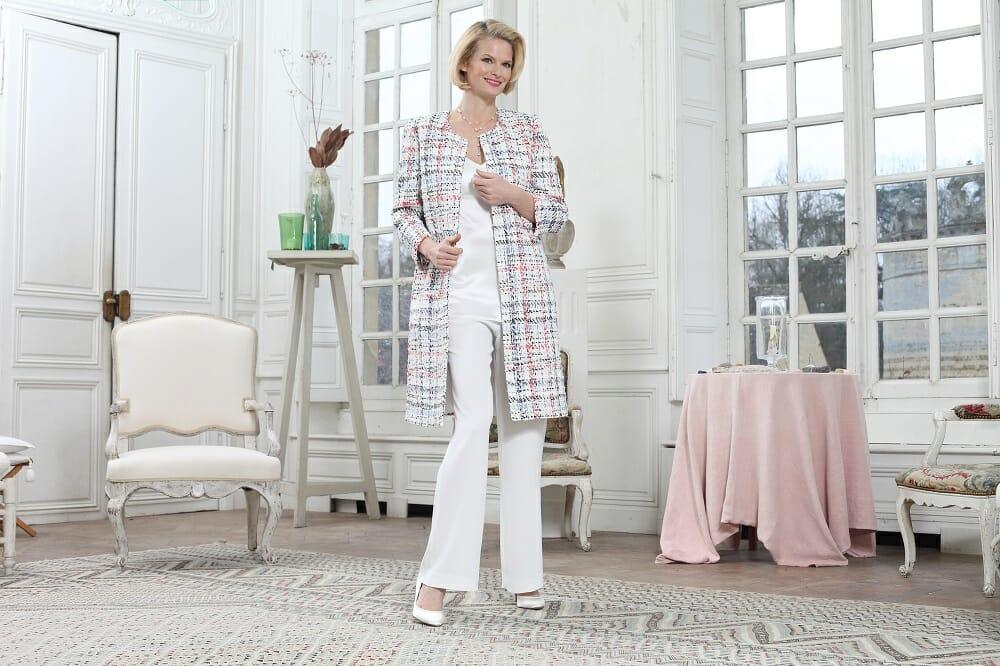 Manteau en tweed, Collection Paule Vasseur chez Croquelune
