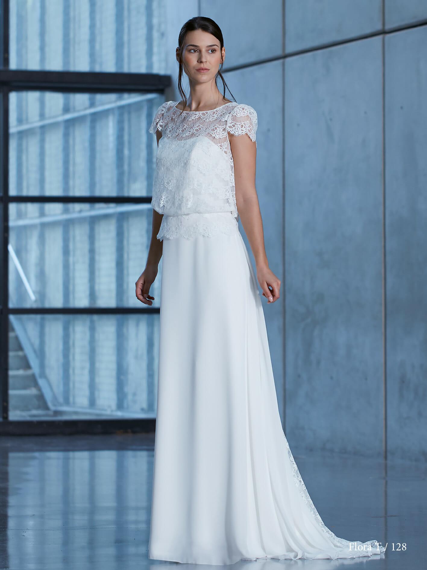 Robe de mariée Flora des Créations Bochet pour Croquelune
