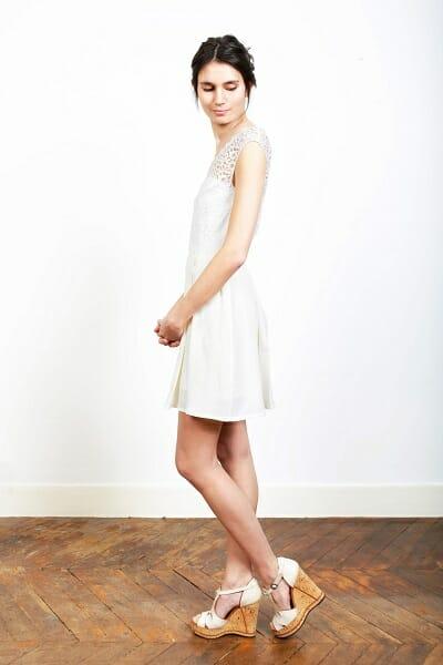 La robe de mariée bohème de la créatrice parisienne L'Amusée fait partie des collections permanentes de Croquelune