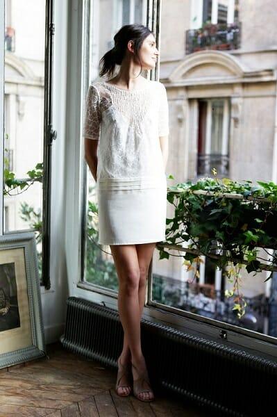 La robe de mariée ``La Sophistiquée`` de la créatrice parisienne L'Amusée fait partie des collections permanentes de Croquelune