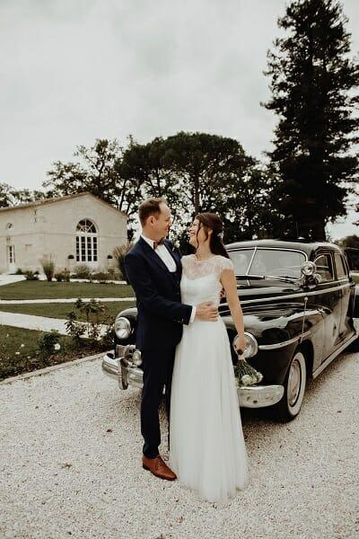 Livre d'Or Robe de mariée Paul avec le top Albertine de Croquelune