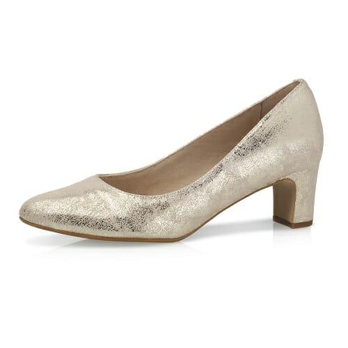 Chaussures modèle Palma, en suédine marbrée or, molletonnées de Raimbow