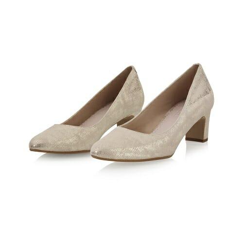 Chaussures en suédine marbrée or, molletonnées de Raimbow