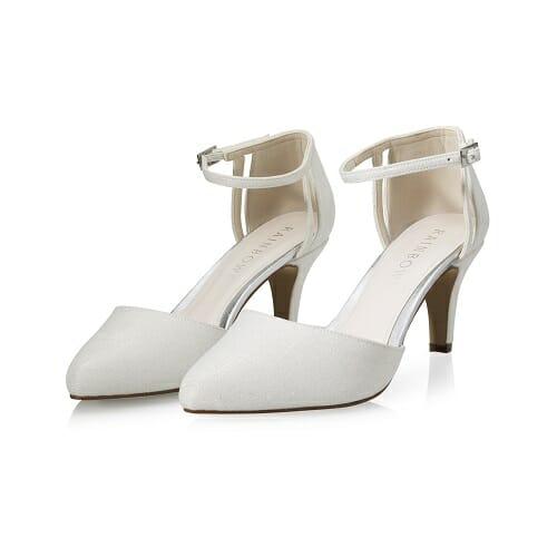 Chaussures modèle Sarina de Rainbow, couleur off white metallic